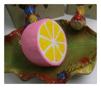 도매 DHL squishies 드문 squishy jumpo kawaii 과일 레몬 느린 상승 패키지 냄새가 좋은 압착 장난감 아이 선물 무료 배송