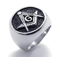 Символы масонов масел литья из нержавеющей стали 316L Кольца SZ # 8-13, свободные и принятые масоны