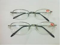 Metade-Armação de Metal Unisex Shortsighted Miopia Óculos de Leitura Metade Jante Liga Nearsighted Óculos 10 pçs / lote