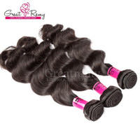 Greatremy Hair Products 100% Brazilian Hair Weft 3pcs/lot Remy Human Hair Weft Loose Deep Wave Drop Ship Natural Color Dyeable US Selling
