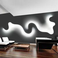 Yaratıcı Akrilik Eğrisi Işık Yılan LED Lamba Nordic Led Kuşak Sıva Üstü Aplik Dekor