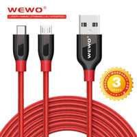 Wewo Type C Cables 2 in 1 data transmit and Charging Cable w...
