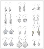 Monili di modo degli orecchini di goccia dell'argento sterlina di stile misto 925 per le donne trasporto libero bello regalo di nozze Superiore