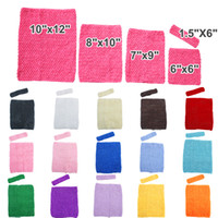 "Hot koop! 15% korting! Stretch Crochet Tube Top Tailleband 6 ""9"" 10 ""12 inch baby elastische gekleurde tutu hoofdband haarband meisjes strapless 15pcs / lot"