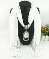 La más nueva señora barata de la manera de la bufanda Directa Rhinestones de la fábrica Gota cuelga el collar pendiente de la bufanda Bufanda del invierno Mujeres Pañuelo