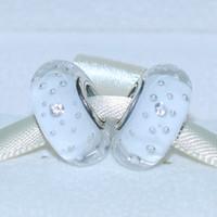 5pcs 925 Sterlingsilber-lose Korn-Thema Weiß Effervescence Murano Glasperlen passender europäischer Art-Charme Schmuck Armbänder Halsketten-04