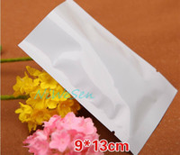 200pcs pack X 9*13cm Heat sealing white flat bag- retail alum...