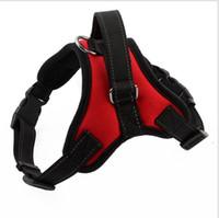 Segurança de alta qualidade pet cão harness colete corda gola do pescoço do cão cinta com trela para fora