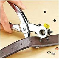 حار بيع 1 مجموعة / وحدة لكمة الثقوب إضافة الثقوب تحديد كسر يستقر اللكم ثقوب المنزل كماشة أداة