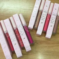 Dropshipping Novo Kylie Pink 20º Birhday Edition Brilho labial Batons mate líquidos 12 cores The Birthday Collection Liploss