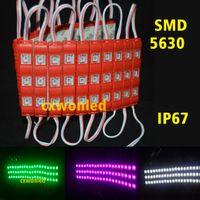 Canal Cartas retroiluminação por LED Módulos de luzes 5630 3LEDs 1.2W Injection Led módulos com tampa da lente 12V impermeável para Billboard Outdoor