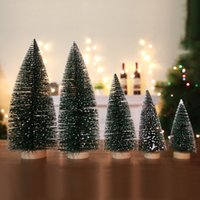 Mini touch white cedar tree flocking small pine needle tree ...