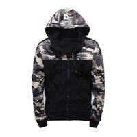 Autumn long sleeve camouflage men hoodies fashion cardigan z...