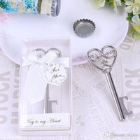 Romantic Wedding Favor Metal Key Shape Bottle Opener Church ...