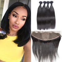 Brazilian Virgin Hair Straight 13x4 ear to ear Silk Base Lac...