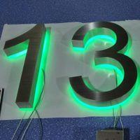 Signo de logotipo retroiluminado a todo color RGB impermeable 3D para exteriores
