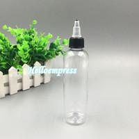 Las botellas plásticas transparentes al por mayor del apretón 120 ml con el pico capsulan las botellas líquidas vacías de 4oz E Las botellas de PET de Ejuice liberan DHL