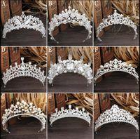 Великолепные игристые серебро Большой свадьба диамант фантантные тиары волосянные хрустальные свадебные коронки для невестых волос ювелирные изделия головной убор