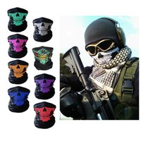 Free Shipping Halloween Outdoor Sports Skull Face Headwear W...