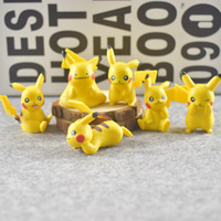 6 pz / set 5 cm Pocket Mostro Pikachu Charmander Souirele Bulbasaur Action Figures Animal Action Figure Toe Doll spedizione Gratuita