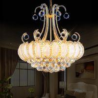 Роскошный старинный K9 Crystal Crystal Crystal Crystal Chraded Gold Chinselier Освещение Чехия Хрустальная люстра Висячие лампы для гостиницы Гостиная
