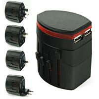 USB 항구는 미국 / UK / EU / AU에 AC 힘 충전기 플러그 변환기 접합기 여행을 여행한다