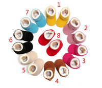8 Color Candy Baby first walker shoes moccasins soft sole PU...