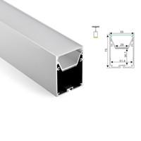 50 X 1 M Sätze / Los Surface Mounted Aluminiumprofil und 6063 groß alu Kanal mit gekrümmten Teilen zur Deckenpendelleuchten LEDS