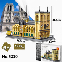 5210 Notre- dame Cathedral Of Paris Model toy 1380Pcs World G...