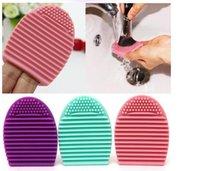 Egg Cleaning Glove MakeUp Washing Brush Scrubber Board Cosmetic Brushegg Cosmetic Brush Egg 7colors brushegg 0601057