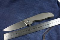 Classic High End D2 Stahl Flipper Klappmesser 60HRC Stonewash Finish Klingenmesser Outdoor Survival taktische Messer