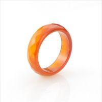 Anillo de jade 100% natural facetas anillos de ágata roja negra anillos de joyería de alta calidad para mujeres y hombres