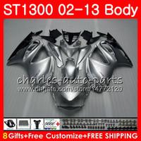 Kit para HONDA STX1300 ST1300 Pan Europeo 00 01 02 03 04 05 06 93HM1 ST-1300 ST 1300 2000 2001 2002 2003 2004 2005 2006 Carenado Gloss silver