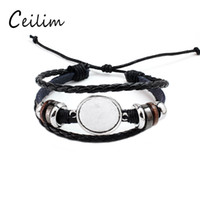 Fashion Jewelry DIY Multi Layer Leather Bracelet Bangle Blan...
