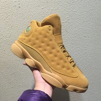 With box 13 XIII Wheat Men Basketball Shoes Sports Sneakers ...
