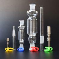 Micro NC 10 mm 14 mm Astuce Titane Plastique Keck clip Clear Color de haute qualité pour fumeurs verre Bongs