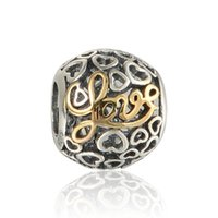Love beads pave charm wholesale S925 sterling silver fits fo...