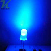 1000pcs 5mm blu diffuso led lampada a led led diodi 3mm diffuso blu ultra luminoso rotondo led light spedizione gratuita