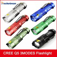 CREE flashlight tactical Q5 powerful led flashlight linterna...