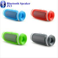 새로운 JY-3 Bluetooth 무선 스피커 타원형 둥근 핸즈프리 스테레오 스피커 휴대용 Subwoofers 소매 상자 1pcs / lot를 % s 가진 Mic TF 카드를 가진