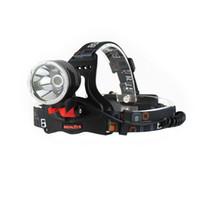 BORUIT القابلة لإعادة الشحن 2500LM كري XM-L2 L2 LED كشافات المصباح رئيس الشعلة مجهزة 360 درجة تناوب قاعدة