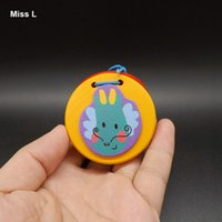Красочные деревянные палец кастаньеты клацать игрушка мультфильм ударный инструмент подарки дети игры логические IQ игры игрушки