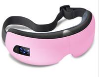 2017 hete verkoop luchtdruk oog massager met draadloze bluetooth muziek vibratie verwarming therapie oogmassage myopia zorg apparaten oog gezondheid