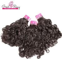 3 pcs Brazilian Curly Weave Natural Hair Weavings 10-30 polegadas Pacotes de Cabelo Brasileiros para Mulheres Negras Dhgate Greaturemy Hair Transporte rápido