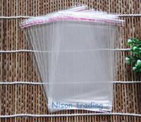 15 * 26cm 200pcs / klip toplama öz mühür çanta poli kese ambalaj Kendinden yapışkanlı Seal OPP torba-yeniden kapatılabilir şeffaf hediye paketi