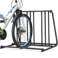 Steel 1-6 Bikes Floor Mount Bicycle Park Espacio de estacionamiento Estacionamiento en rack