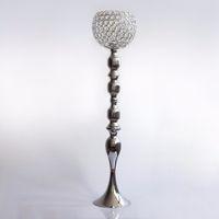 Grand vase à cylindre en verre de haute qualité pour un arrangement floral