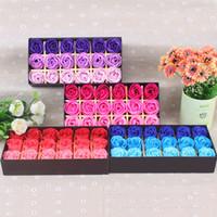 Rose Seife Blumen Dekorative Blumen Geschenke Neues Design Für Feiertage Weihnachtsgeschenk 18 stücke in 1 Geschenkbox