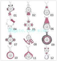 NOOSA Croix en métal Coeur Couronne Amour Chat Pendentif Collier Charm Ginger Snap Bouton Colliers Pour Femmes Snaps Bijoux
