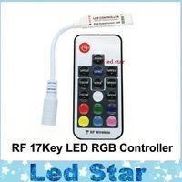 LED RGB контроллер DC5V-24V 12A 17key мини-RF беспроводной пульт дистанционного диммер для 5050 3528 RGB гибкая прокладка света